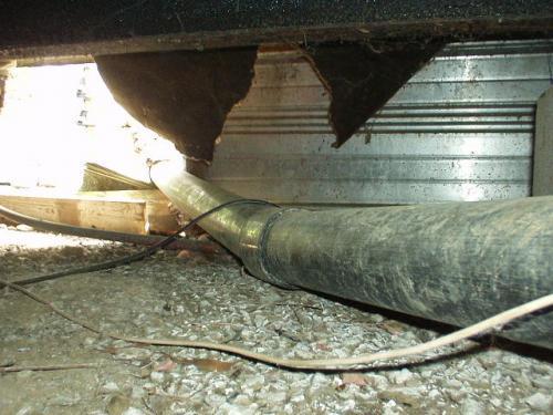 Improper Sewage Drain